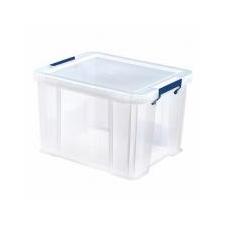 FELLOWES Műanyag tároló doboz, átlátszó, 36 liter, FELLOWES,  ProStore™ papírárú, csomagoló és tárolóeszköz