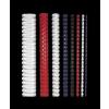 FELLOWES Spirál, műanyag, 10 mm, 41-55 lap, , 25 db, kék