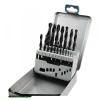 fémcsigafúró klt, HSS, DIN 338, fém dobozban;1,0-10,0mm, 19 db