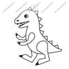 Fényvarázsforma, kicsi dinó-Tyrannosaurus