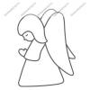 Fényvarázsforma, kicsi karacsony - angyalka (arany szegéllyel)