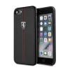 Ferrari iPhone 6/7/8 Heritage W Vertical Contrasted Stripe hátlap, tok, fekete