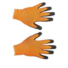 FH BUBO nylon, latex kesztyű narancssárga - 10