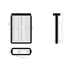 Fiat Doblo 2001.01.01-2005.09.30 Fűtőradiátor (Denso rendszerű ) (0L6E) fűtőradiátor