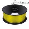 Filament PLA tekercs, 3mm, Sárga (1kg)