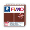 "FIMO Gyurma, 57 g, égethető, "" Leather Effect"", dió"