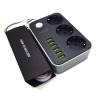 Fineblue Túlfeszültség védelemmel és USB portokkal ellátott hosszabbító, elosztó