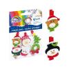 Fiorello Dekorcsipesz karácsonyi FIORELLO GR WD449 fa filc vegyes figurákkal 6 db/bliszter