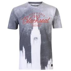 Firetrap férfi póló - Firetrap Blackseal London Clock T Shirt White Black