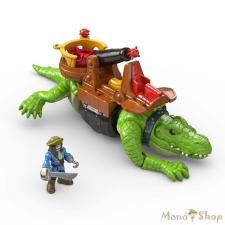 Fisher-Price Imaginext sétáló krokodil és Hook kapitány játékfigura