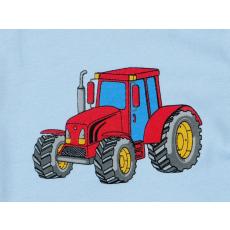 Fiú hosszú ujjú kombidressz #kék traktor mintás