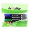"""FLEXOFFICE Alkohos marker, 1,5 mm, kúpos, FLEXOFFICE \""""PM03\"""", 4 különböző szín [4 db]"""