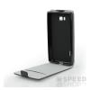 Flip szilikon belső Flip tok szilikon belsővel, Huawei P10, fekete