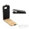 Flip szilikon belső Flip tok szilikon belsővel, Samsung G965 Galaxy S9+, fekete