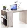 FMD homoktölgy színű íróasztal oldalpolcokkal 117 x 73 x 75 cm