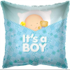 Fólia nagy lufi babaszületésre párna kék