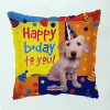Fólia nagy lufi Happy Birthday csákós kutya