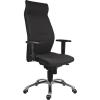""". Főnöki szék, magas háttámlával, szövet, alumínium láb., 24 h,""""1824 Lei"""", fekete"""