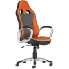 """. Főnöki szék, mesh és műbőr borítás, műanyag lábkereszt, """"OREGON"""", szürke-narancs"""