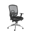 """. Főnöki szék, szövetborítás,fejtámla nélkül, hálós háttámla, """"Oklahoma"""", fekete"""