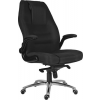 Főnöki szék, szövetborítás, króm lábkereszt, 24 h  MARKUS  fekete