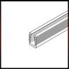 Forest Tolóajtó szerelvény Szorító profil 6mm-es üveghez