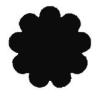 Formalyukasztó 38 mm, Virág, kilenc szirmú