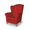 Fotel, piros, CHARLOT