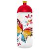 """FREEWATER Kulacs, higiénikus műanyagból, 0,7L,  """"Pillangó"""", átlátszó"""