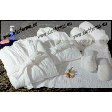 Frottír sálgalléros Fehér köntös (100 % pamut), XXXXXXL (6XL)