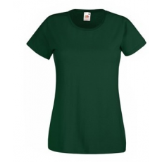 Fruit of the Loom  61-372  LADY FIT Valueweight  női póló BOTTLE GREEN  S-XXL méretek