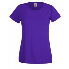 Fruit of the Loom  61-372  LADY FIT Valueweight  női póló PURPLE  S-XXL méretek