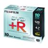 Fuji Film DVD+R 4.7GB 16x SLIM/vékony tokos, 10db