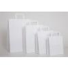 . Füles papírtasak, szalagfüles, fehér, 22x10x28 cm