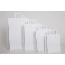 . Füles papírtasak, szalagfüles, fehér, 28x17x27 cm papírárú, csomagoló és tárolóeszköz