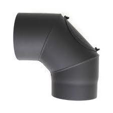 Füstcső könyök vastagfalú 120/90 200x200mm tisztítónyílással hűtés, fűtés szerelvény