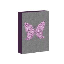 . Füzetbox, A5, Butterfly Jeans-Jumbo iskolai kiegészítő