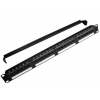 Gembird 19\'\' patch panel 24 port 1U cat.5e with rear cable management  black