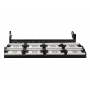 Gembird 19\'\' patch panel 48 port 2U cat.5e with rear cable management  black