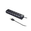 Gembird 7-port HUB with switch, USB 2.0 powered, black