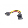 Gembird cable power SATA 15 pin -> 2x SATA HDD - straight