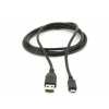 Gembird double-sided USB 2.0 AM to Micro-USB cable  1 m  black