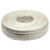 Gembird flat telephone cable stranded 6-wire 100m, white