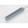 Gembird SPG6-B-10C Surge protector 6 sockets 3m