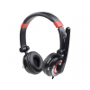 Gembird stereo headphones 5.1 with microphone and volume control  USB  black-red