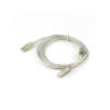 Gembird USB 2.0 cable A male -> B male, premium quality 1.8m transparent