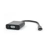 Gembird USB-C to VGA adapter; black