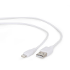 Gembird USB to 8-pin sync and charging cable; white; 3m
