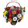 Gerbera virágkosár