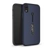 Gigapack Apple iPhone XR műanyag telefonvédő (gumírozott, ujjra húzható szilikon, sötétkék)